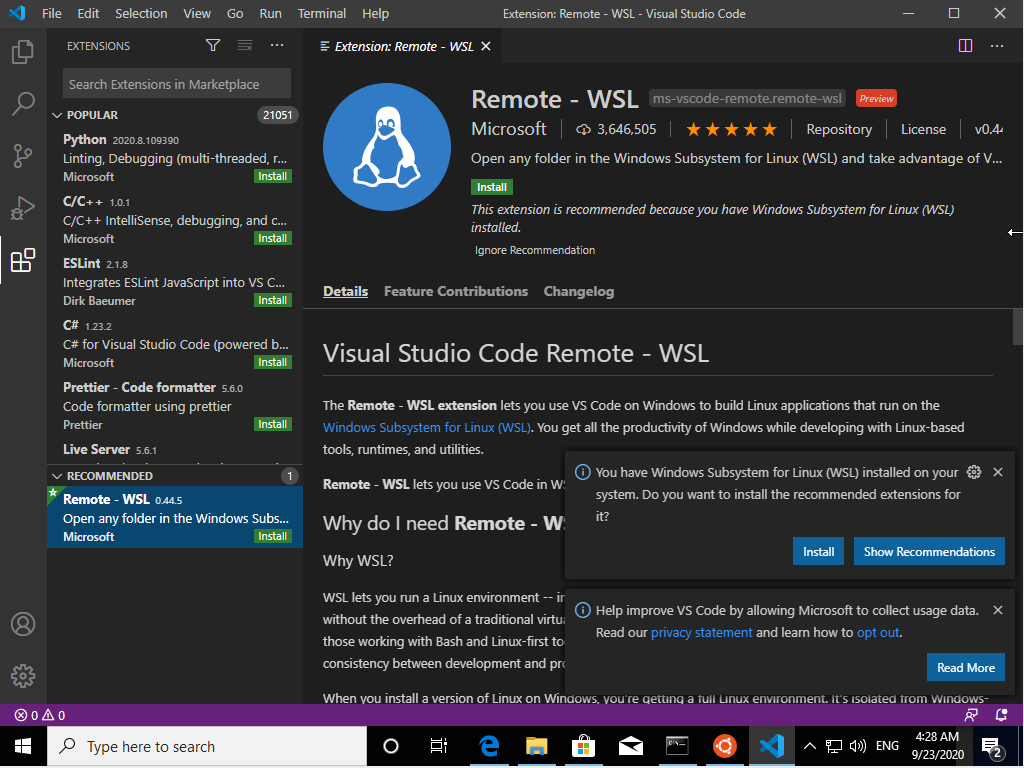 courses:b3b36prg:tutorials:win10-wsl-vscode-1.png
